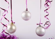 Palle del nuovo anno Fotografie Stock Libere da Diritti