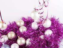 Palle del nuovo anno Immagini Stock Libere da Diritti
