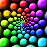 Palle dell'arcobaleno fotografie stock