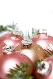 Palle dell'albero di Natale Fotografia Stock Libera da Diritti