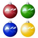 Palle dell'albero di Natale Immagine Stock