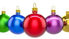 Palle dell'ornamento di Natale Fotografia Stock