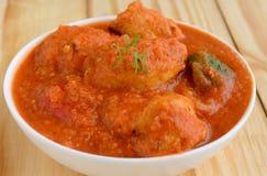 Palle della Curry-carne di Kofta dell'indiano fotografia stock