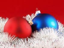 Palle della decorazione dell'albero di Natale Fotografia Stock