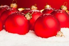 Palle della decorazione di Natale Fotografie Stock Libere da Diritti