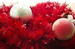 Palle della decorazione di Natale Fotografie Stock