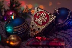 Palle 2016 della decorazione di Natale Fotografia Stock Libera da Diritti