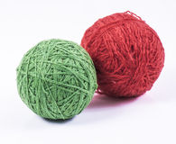 Palle della lana Fotografie Stock