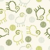 Palle della lana delle pecore del modello decorative fotografie stock