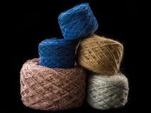Palle della piramide della lana Immagine Stock