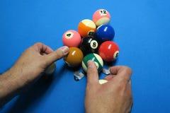 Palle dello snooker Fotografia Stock Libera da Diritti