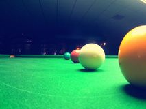 Palle dello snooker Fotografia Stock