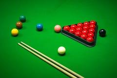 Palle dello snooker messe Immagini Stock