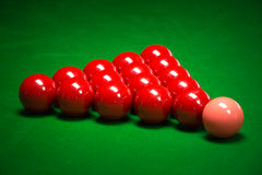 Palle dello snooker messe Fotografia Stock