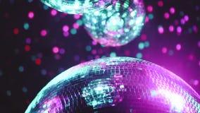 Palle dello specchio della discoteca del partito video d archivio