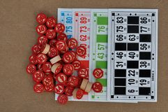 Palle di bingo Fotografie Stock