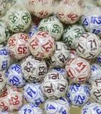Palle di bingo Immagini Stock