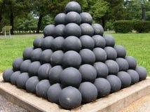 Palle di cannone della guerra civile Fotografia Stock Libera da Diritti
