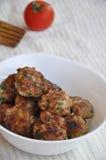 Palle di carne di pollo Fotografia Stock Libera da Diritti