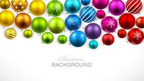 Palle di colore di Natale Fotografie Stock Libere da Diritti