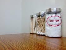 Palle di cotone Fotografie Stock