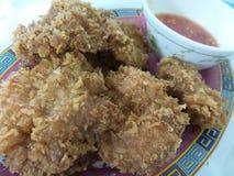 Palle di gamberetto tagliate fritte Fotografia Stock