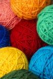 Palle di lana del filato Immagine Stock