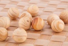 Palle di legno Fotografie Stock Libere da Diritti