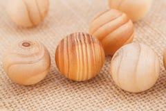 Palle di legno Immagine Stock