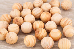 Palle di legno Immagini Stock