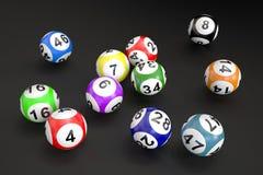 Palle di lotteria Immagine Stock