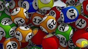 palle di lotteria 3D illustrazione di stock
