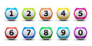 Palle di lotteria messe Fotografie Stock Libere da Diritti