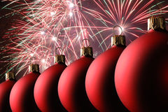 Palle di Natale Fotografie Stock