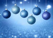 Palle di Natale con lo spazio della copia Fotografia Stock Libera da Diritti