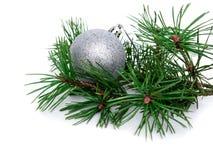Palle di Natale, del nuovo anno e pino Immagini Stock