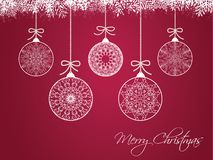 Palle di Natale su fondo variopinto Immagini Stock Libere da Diritti