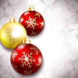 Palle di Natale su un bello fondo Fotografia Stock