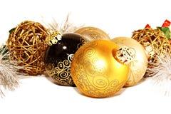 Palle di Natale in un gruppo immagini stock
