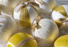 Palle di Natale in una scatola Fotografie Stock