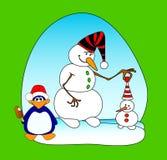 Palle di neve Immagini Stock