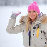 Palle di neve del gioco Fotografie Stock