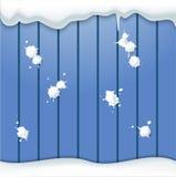 Palle di neve e recinto Immagine Stock