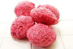 Palle di neve rosa di Lamington Immagine Stock