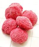 Palle di neve rosa di Lamington Immagini Stock Libere da Diritti