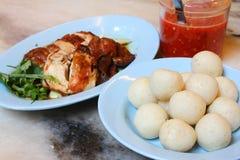 Palle di riso del pollo di Melaka Immagini Stock