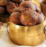 Palle di riso fritto di Unniyappam per il festival di vishu sul Kerala Fotografia Stock