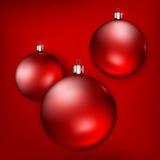 Palle di rosso di Natale Immagini Stock Libere da Diritti