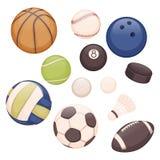 Palle di sport Fotografie Stock