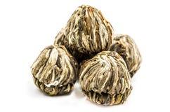Palle di tè verde del fiore Fotografie Stock Libere da Diritti